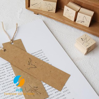 Letter of Lovers Wood Seal 12 Constellation Seal Log Rubber Handbook Album Diary Decoration DIY Stamp