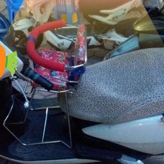 Ghế ngồi xe máy cho bé có vòng (xe Lead)