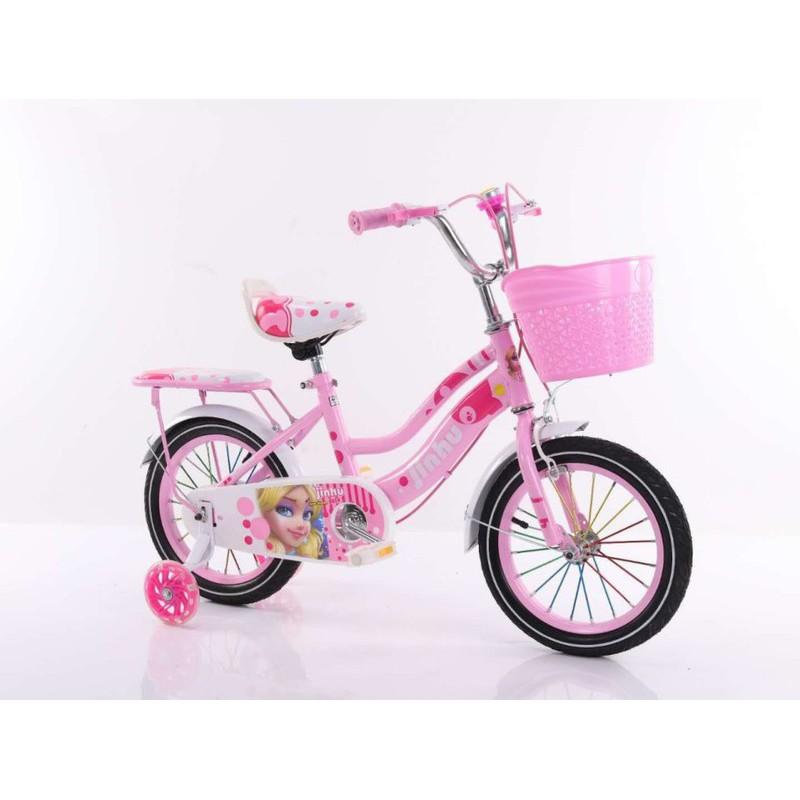 Xe đạp trẻ em cho bé gái bánh 16 inch - xe nữ