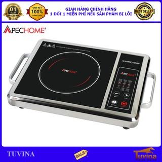 Bếp Hồng Ngoại Cao Cấp Apechome APH-BQ230E – Thân Inox – Không Kén Nồi – Tặng Kèm Vỉ Nướng (Bảo Hành 12 Tháng)