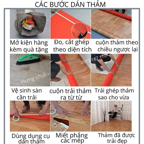 Simili trải sàn vân gỗ miếng thảm nhựa lót nền giả gỗ pvc nhám chống trơn trượt