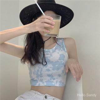 Short Tie-Dyed Slim Fit New Summer Fresh Sling Korean-Style pWnZ