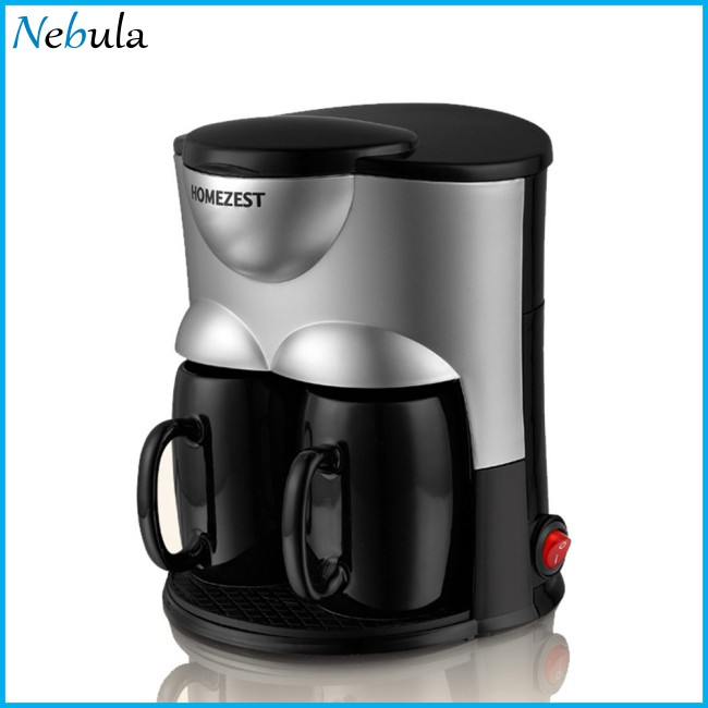 Home Full-automatic Electric Double Cup Drip Coffee Maker Machine