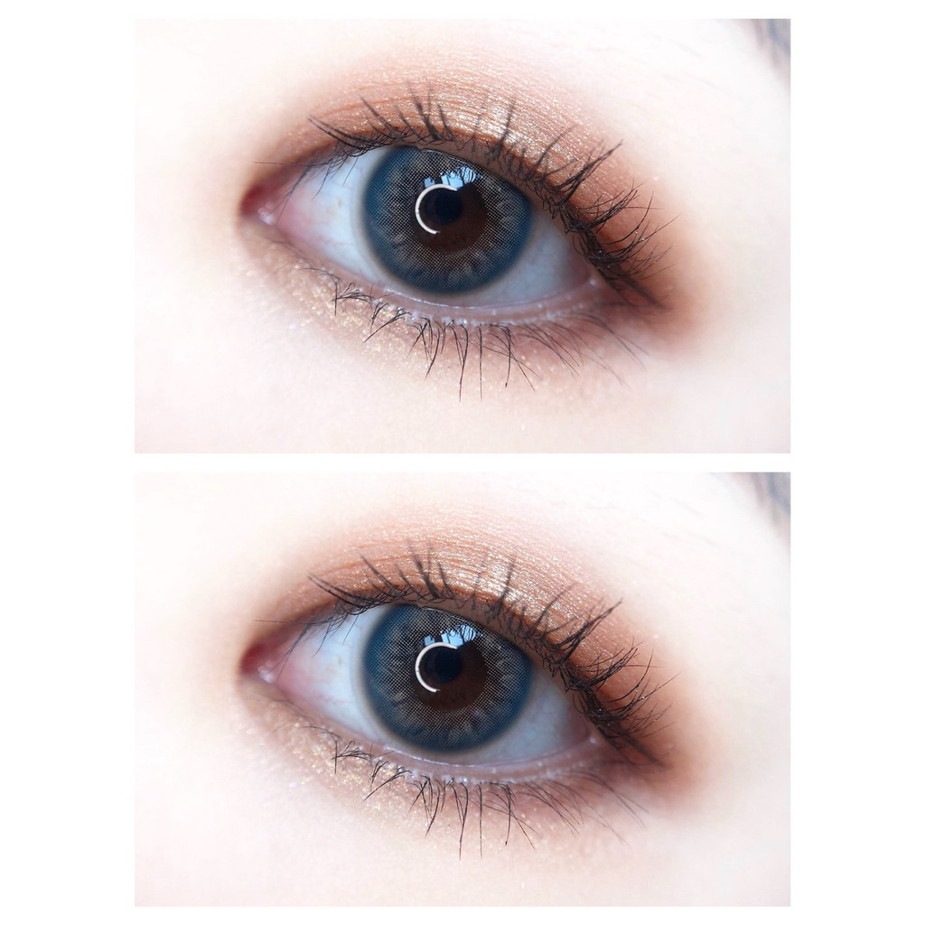 (1pair)(20.July.17)ZXLAN Series,VI-II Brand,14.0mm,(Grade0-8.00),Contact Lens yearly use(blue)
