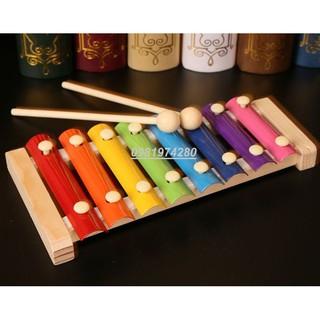 Xylophone 8 thanh- Đàn gõ bằng gỗ âm nhạc cho bé