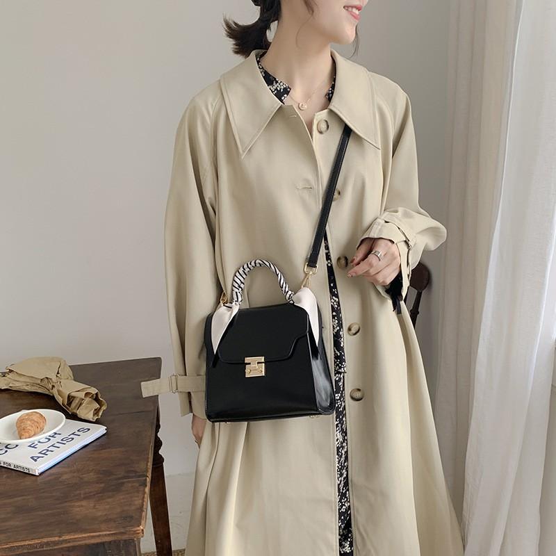 Túi Xách Nữ Chính Hãng MICOCAH Kiểu Dáng Sang Trọng Phong Cách Vintage Phối Khăn Cực Xinh MC25-mozuno