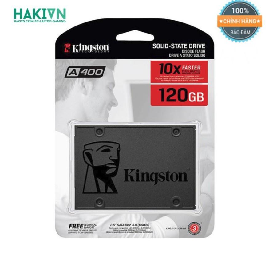 """Ổ Cứng SSD Kingston SA400 120GB 2.5"""" SATA III (SA400S37/120G) PHÂN PHỐI CHÍNH HÃNG Giá chỉ 495.000₫"""