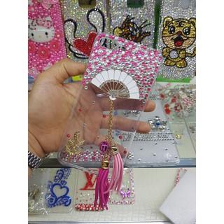 Ốp Lưng Đính Đá Handmade QUạt thời trang (ib dòng đt)