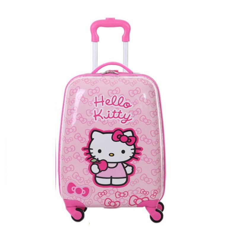 Vali cần kéo ABS siêu cute cho bé mẫu Kitty
