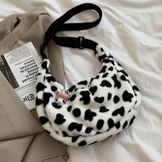 Túi đeo chéo họa tiết bò sữa thời trang Hàn Quốc
