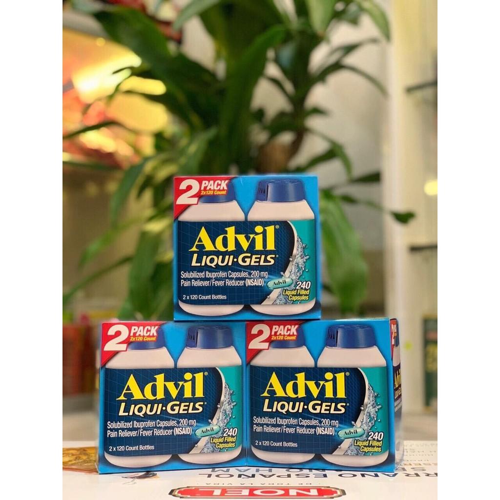 Set 240 viên uống Advil_liqui_gels của Mỹ
