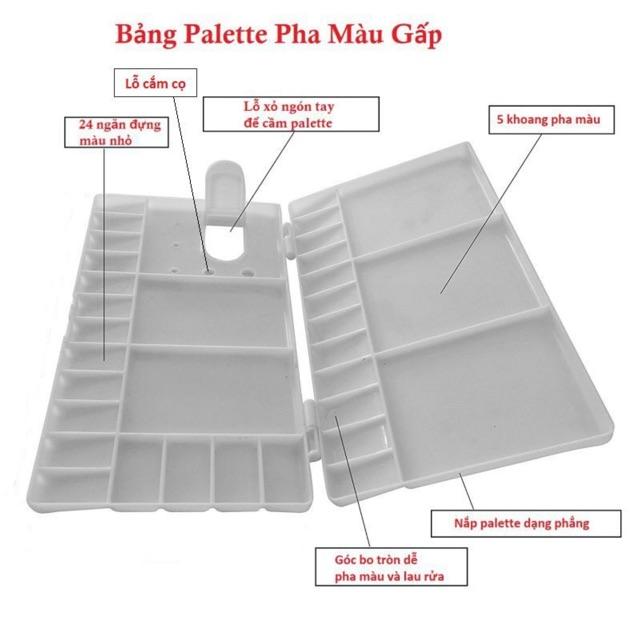 Khay Pha Màu Nước Acrylic Pallet Chỉ 45000 đồ Chơi Baby