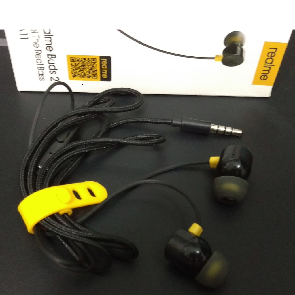 Tai Nghe In-Ear Oppo Realme Ban Đầu Tai Nghe Dây Từ Dệt Giao Diện 3.5 Mm Cho Điện Thoại Smartphone
