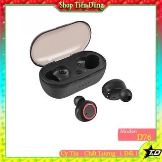Tai nghe bleutooth không dây D76 cao cấp kiểu airpodd 2 tai nhét có đốc sạc- Tai nghe Bluetooth D76 cực kỳ chất lượng