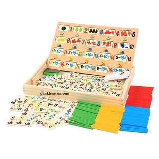 Bảng gỗ học toán cho bé 3 tuổi