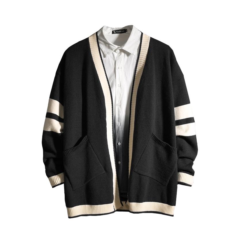ถักเสื้อกันหนาวแขนยาวเสื้อแจ็คเก็ตเสื้อหลวม