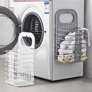 Giỏ đựng quần áo trước khi giặt treo tường thiết kế thông minh có thể gấp gọn tiện lợi
