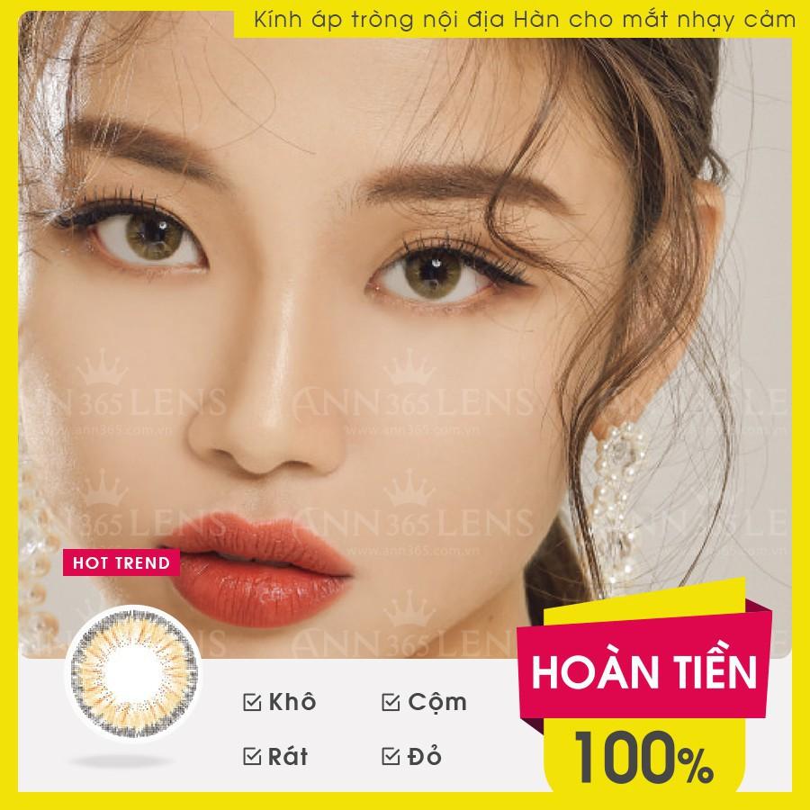 [Top bán chạy] Lens Mắt Cận 1 Tháng Màu Nâu My Ann Sha Sha Brown, Kính Áp Tròng Nội Địa...