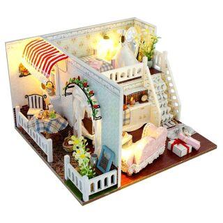 Mô hình nhà gỗ búp bê dollhouse DIY – TD8 Margarita