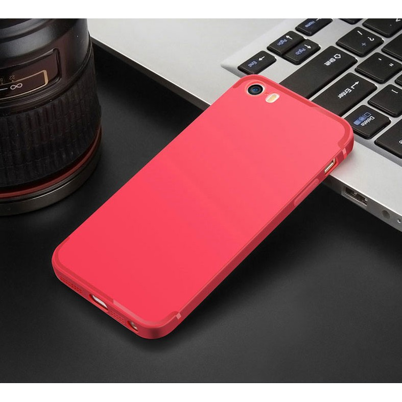 Ốp Lưng iPhone 5/5S/5SE Đỏ Silicone Dẻo (RED)