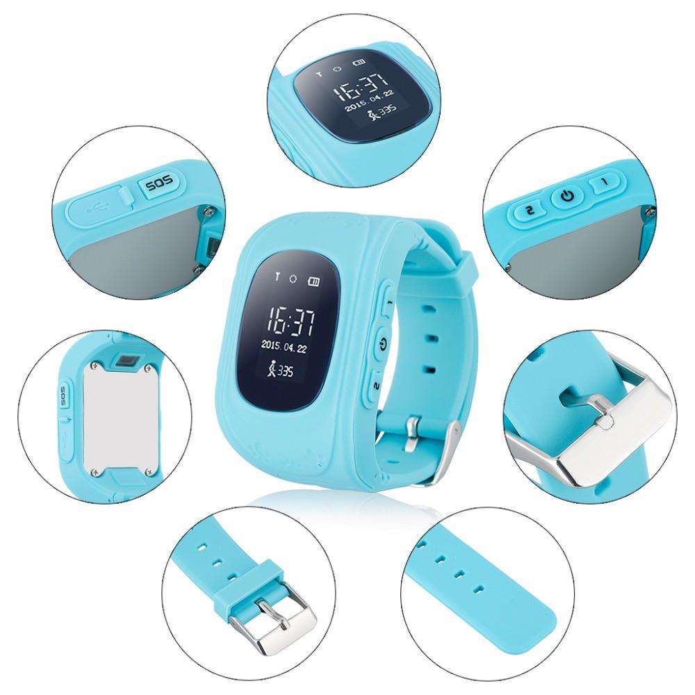 Đồng hồ định vị trẻ em Q50 BH 6 tháng đổi mới màu Xanh Dương