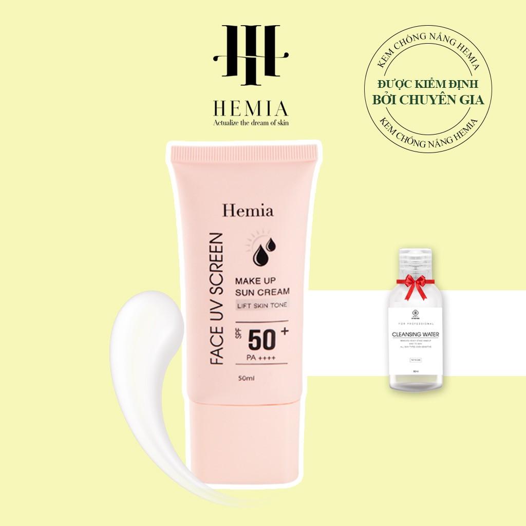 Kem chống nắng Hemia dưỡng trắng make up bảo vệ da chống lão hoá-da dầu, da mụn, da khô, da thường- Hàn quốc
