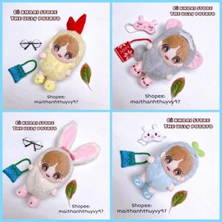 [15-20cm] Outfit Tôm Chiên – Outfit Cà rốt – Outfit carot – Outfit thú cho doll – Outfit thỏ cho doll – Outfit cho doll