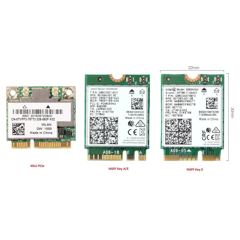 Card wifi máy tính Hackintosh BCM94352Z - DW1560 Broadcom ( Chuẩn M 2 -  NGFF )