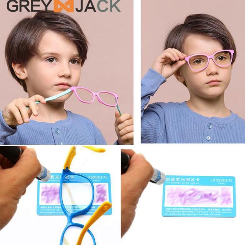 Mắt kính Sla-87 HP TV TR90 / FA8142....,.,.,., màu xám cho trẻ em