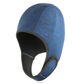 Adult Winter Ergonomic Protection Neoprene Water Sports With Chin Strap Thermal Swimming Cap