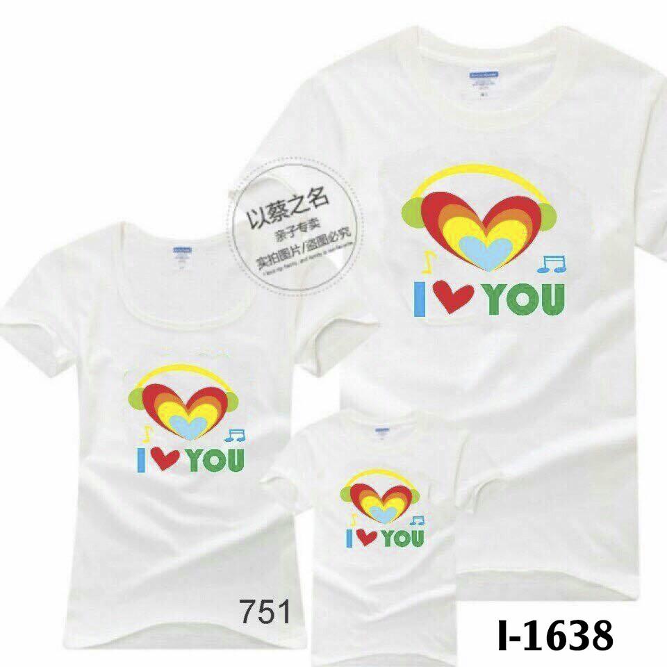 Áo thun gia đình hình tim - I1638