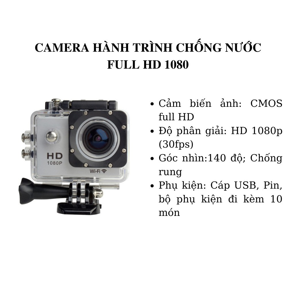 Camera Hành Trình Xe Máy Giá Rẻ Ngoài Trời Chống Nước Quay Phim Độ Nét Cao A9 SJ4000