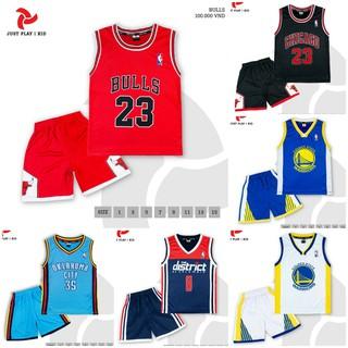 Quần áo bóng rổ trẻ em đồ bóng rổ trẻ em Siêu cưng Vải mè cao cấp
