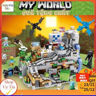Lego Minecraft Hang Động Trên Đỉnh Núi Tuyết [NEW 2020]