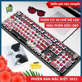 Bàn phím CƠ máy tính Lipstick K520 PRO LED đổi màu, bản Đặc Biệt siêu đẹp, phím cơ blue switch cho pc, laptop thumbnail