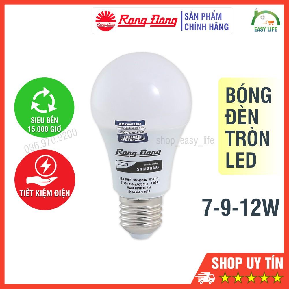 Bóng Đèn Tròn LED Rạng Đông Tiết Kiệm Điện 7-9-12W