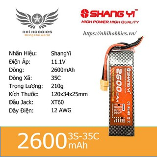 Pin Lipo ShangYi 11.1v 3s 2600mAh 35C