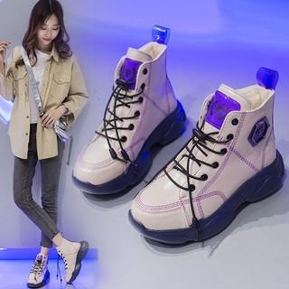 Giày Nữ2021Mùa Xuân Mới Khởi Động Sinh Viên Hàn Quốc Hoang Dã Màu Đỏ Dày MartininsGiày Thể Thao thumbnail