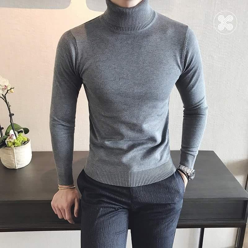 Áo len nam cổ lọ thời trang hàn quốc - Áo len phong cách Hàn Quốc Áo cổ trụ