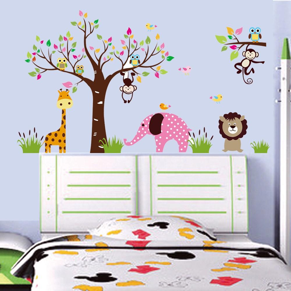 Decal dán tường cho bé, vườn thú cỡ đại - 2992441 , 163241236 , 322_163241236 , 165000 , Decal-dan-tuong-cho-be-vuon-thu-co-dai-322_163241236 , shopee.vn , Decal dán tường cho bé, vườn thú cỡ đại