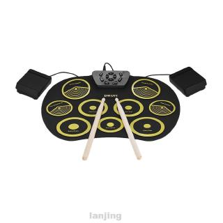 Hand Roll Playback Children Gift Musical Digital Funny Portable Enlightenment Electronic Drum Set