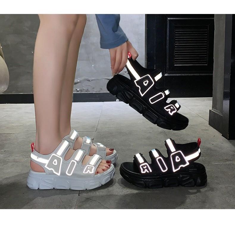 (2 Màu VIDEO) Sandal Nữ AIR 3 Quai Viền Phản Quang Kiểu Dáng Hàn Quốc