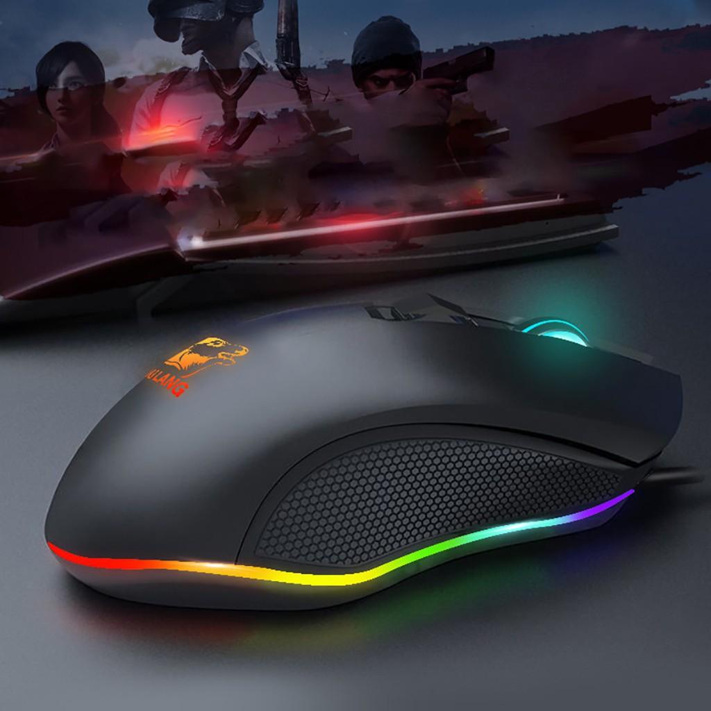 Chuột Máy Tính Free Wolf V1 LED RGB Chơi Game Tự Động Đổi Màu Cực Đẹp