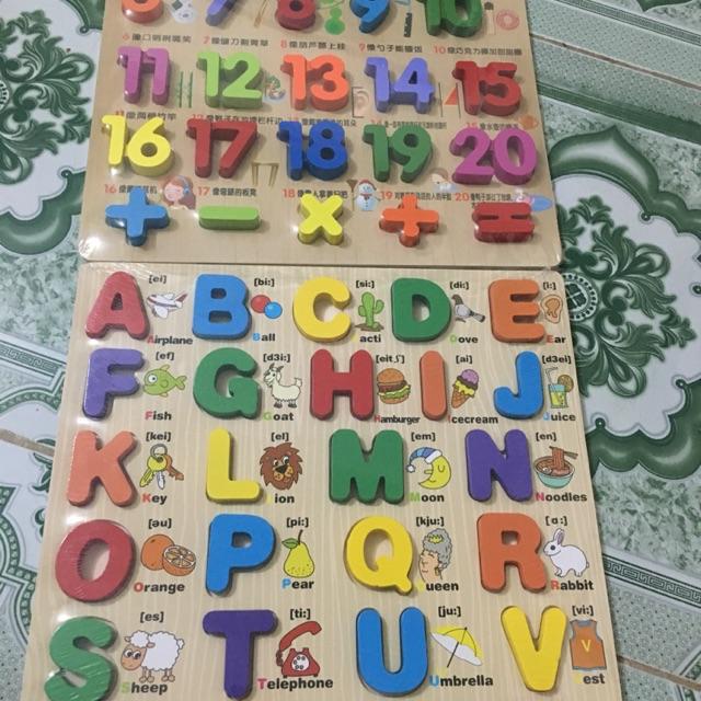 SALE Combo 2 bảng chữ nổi loại to