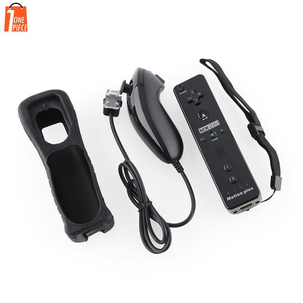Motion Plus Remote Controller + Nunchuck Controller + Case for Nintendo Wii