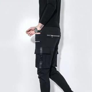 Quần kaki túi hộp phối dây kéo túi giả nam nữ cao cấp