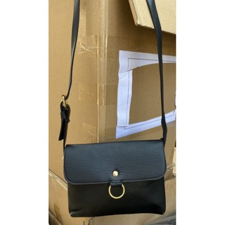 Túi đeo da mềm xinh xắn cho nữ màu đen