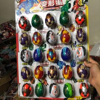 Vỉ 25 quả trứng siêu nhân biến hình