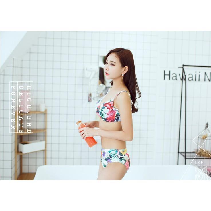 SET 3 Món Bikini Đi Biển Gợi Cảm Kèm Váy Voan Phong Cách Hàn Quốc - Đồ Bơi Rainy Bikini