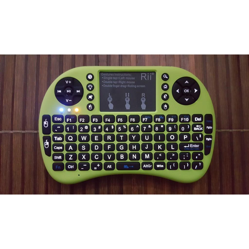 [THƯƠNG HIỆU RIITEK) Bàn phím riitek mini Rii i8+, có đèn led / Bàn phím không dây / Remote Control